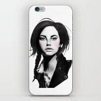 Fashion Illustration - Leather Jacket iPhone & iPod Skin