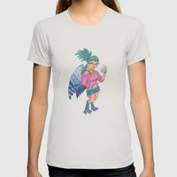 Harpy Gal Womens Fitted Tee Silver SMALL