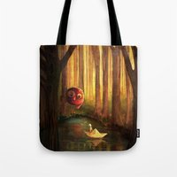 Forest Encounter Tote Bag