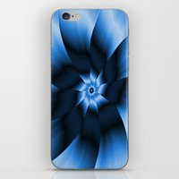 Flower In Monochrome Blu… iPhone & iPod Skin