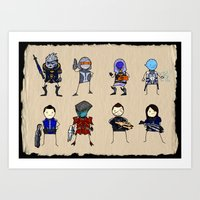 Mass Effect 3 Normandy Crew Art Print