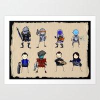 Mass Effect 3 Normandy C… Art Print
