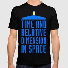 Doctor Who: The Tardis! Time and Relative Dimension in Space SMALL Black Mens Fitted Tee