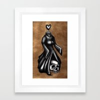 Our Heads and Our Hearts Often Get Quite Mixed Up Framed Art Print