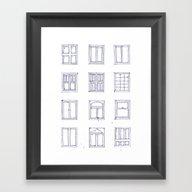 Windows Sketch Framed Art Print