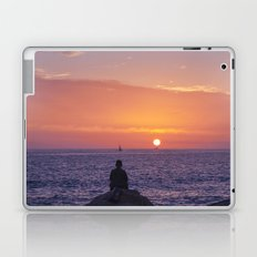 Man Enjoying Sunset Laptop & iPad Skin