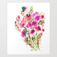 Bouquet Pink  Art Print