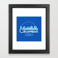 Columbus, Ohio Framed Art Print