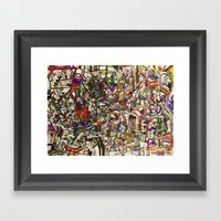 Witchcraft Abstract Framed Art Print