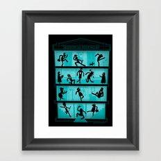 Silly Walking Framed Art Print
