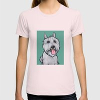 Levi the Miniature Schnauzer Womens Fitted Tee Light Pink SMALL