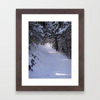 ROADLESSTRAVELED Framed Art Print