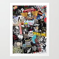 TROUBLE COLLAGE Art Print