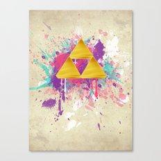 Splash Triforce Canvas Print