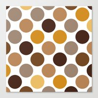 Big Loving Dots: Brown Canvas Print