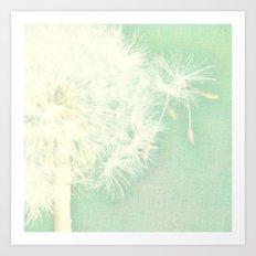 Mint Green Dandelion Art Print
