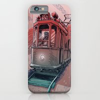 iPhone Cases featuring Winged Tram by pakowacz