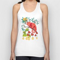 The Red Chameleon  Unisex Tank Top