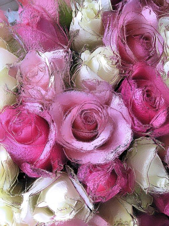 Glossy Roses Art Print