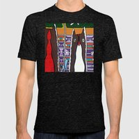 GOOD EVENING and WELCOME to the AIRPORT to ANOTHER DIMENSION Mens Fitted Tee Tri-Black SMALL