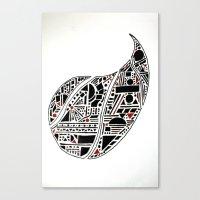Paisley Geo Melee Canvas Print