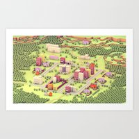 EarthBound - Town Of One… Art Print