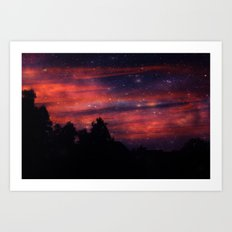 Red Mist Art Print