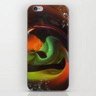 An Alien Orange iPhone & iPod Skin