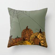 Halloween Pumpkins Throw Pillow
