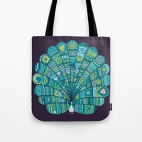 Peacock At Noon Tote Bag
