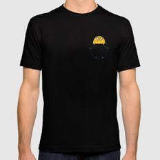 pocket Jake Mens Fitted Tee Black SMALL
