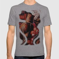 Still Life Mens Fitted Tee Athletic Grey SMALL