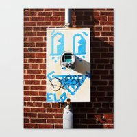 Tape Face Canvas Print