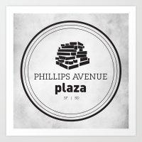Phillips Avenue Plaza Art Print