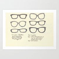Hipsters Wear Frames, Il… Art Print