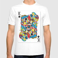 King Of Spades Mens Fitted Tee White SMALL