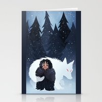 Snow And Ghost Stationery Cards
