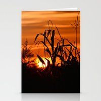 Silhouttes In A Sunrise Stationery Cards