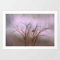 Driving Through The Fog Art Print
