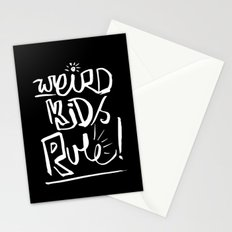 Weird Kids Rule Stationery Cards