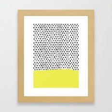 Polka Dot Rain Dip Framed Art Print