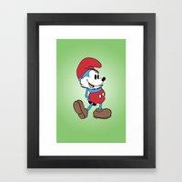 Mickey x Papa Smurf Framed Art Print