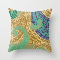 out arabian Throw Pillow