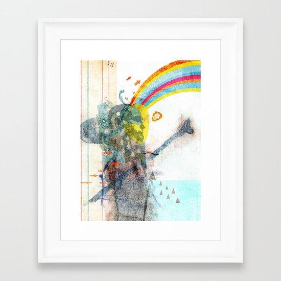 toward Framed Art Print