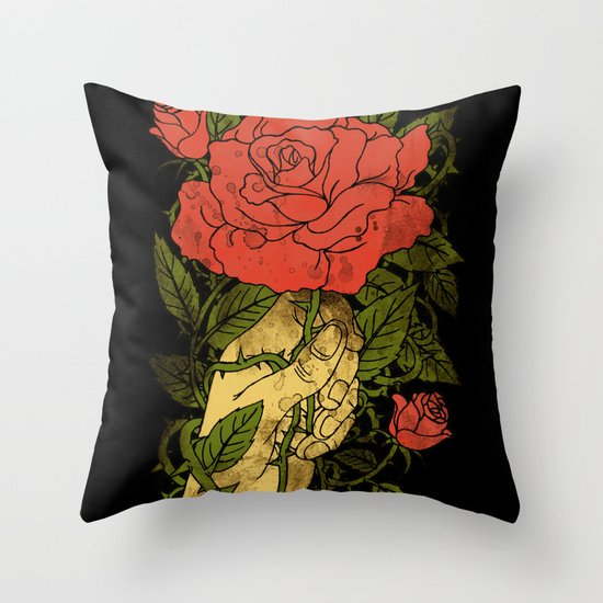 rose in my hand 2.0 Throw Pillow
