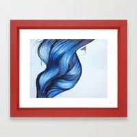Abstract Hair Framed Art Print