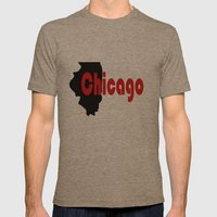 Chicago Mens Fitted Tee Tri-Coffee SMALL