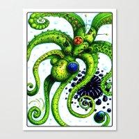 Infinity Octopus Canvas Print