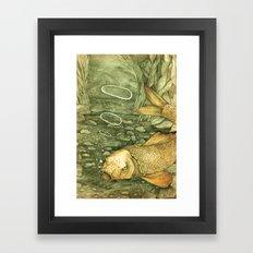 Le Mutisme d'une Carpe (The Golden Carp) Framed Art Print