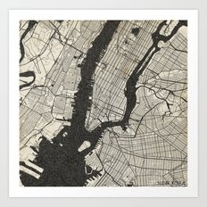 New York - Ink lines Art Print